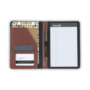 Samsill® Contrast Stitch Leather Padfolio