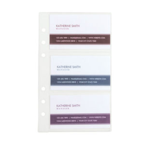 Samsill® Refill Sheets for Business Card Binders