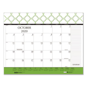 House of Doolittle™ 100% Recycled Geometric Desk Pad Calendar