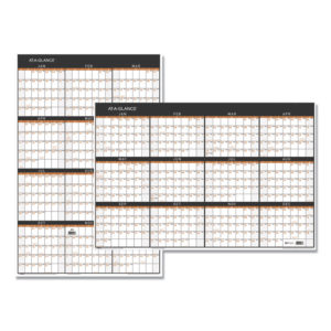 AT-A-GLANCE® Contemporary Two-Sided Yearly Erasable Wall Planner