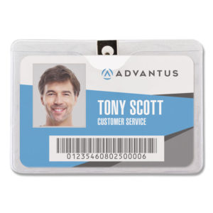 Advantus ID Badge Holders with Clip
