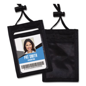 Advantus ID Badge Holders With Convention Neck Pouch