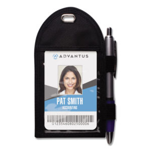 Advantus Badge Holder with Pen Loop
