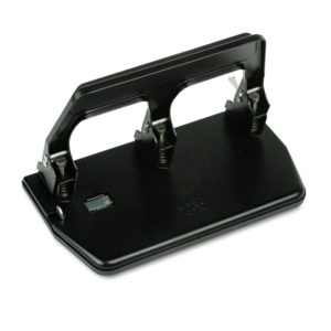 Master® Heavy-Duty Three-Hole Punch with Gel Pad Handle
