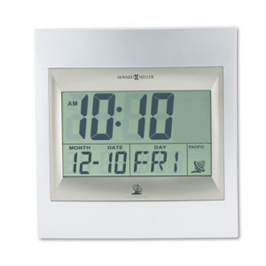 Howard Miller® TechTime II Radio-Controlled LCD Wall or Table Alarm Clock