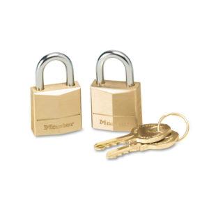 Master Lock® Twin Brass 3-Pin Tumbler Lock