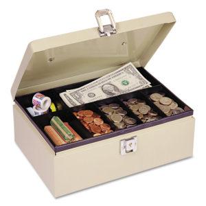 SteelMaster® Heavy-Duty Steel Cash Box with Locking Latch