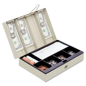 SteelMaster® Locking Heavy-Duty Steel Lay-Flat Cash Box