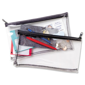 MMF Industries™ Clear Vinyl Zippered Wallet