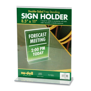 NuDell™ Acrylic Sign Holder