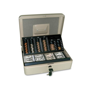 PM Company® SecurIT® 3-in-1 Cash-Change-Storage Security Box