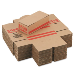 PM Company® Corrugated Coin Storage and Shipping Boxes