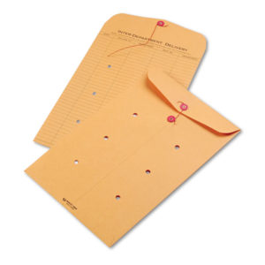 Quality Park™ Brown Kraft String & Button Interoffice Envelope