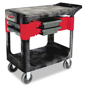 Rubbermaid® Commercial Two-Shelf Trades Cart