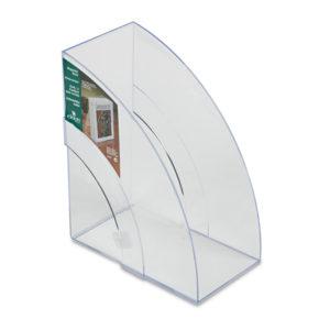 Rubbermaid® Optimizers™ Deluxe Plastic Magazine Rack