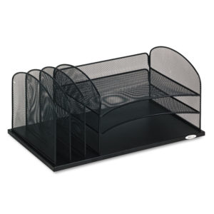 Safco® Onyx™ Desk Organizer with Three Horizontal and Three Upright Sections