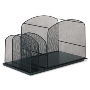 Safco® Onyx™ Mesh Desktop Hanging File With Two Upright Sections