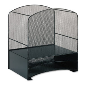 Safco® Onyx™ Mesh Desktop Hanging File With Two Horizontal Trays