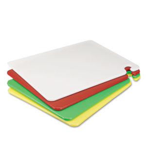 San Jamar® Cut-N-Carry® Color Cutting Board