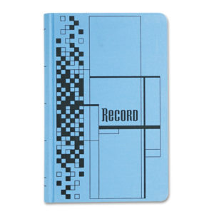 Adams® Blue and Black Record Ledger