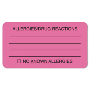 Tabbies® Allergy Warning Labels