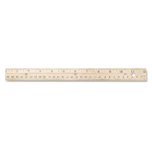 Westcott® Three-Hole Punched Wood Ruler