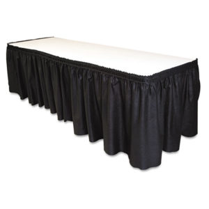Tablemate® Table Set® Linen-Like Table Skirting
