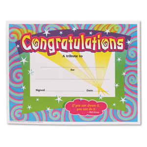 TREND® Colorful Classic Certificates