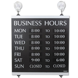 Headline® Sign Century Series Business Hours Sign