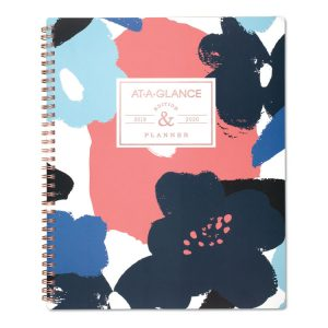 AT-A-GLANCE® Badge Floral Academic Planner