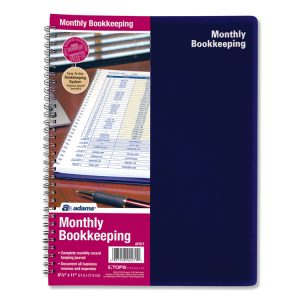 Adams® Monthly Bookkeeping Record Book