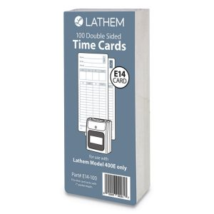 Lathem® Time E14-100 Time Cards