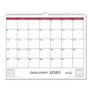 Blue Sky™ Classic Red Wall Calendar