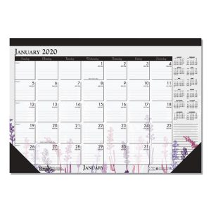 House of Doolittle™ 100% Recycled Wild Flower Desk Pad Calendar