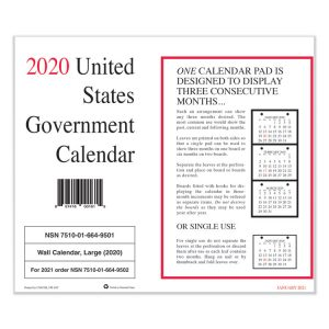 Unicor Perforated Monthly Wall Calendar
