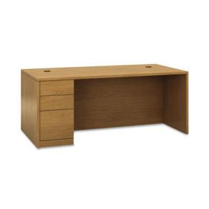 """HON® 10500 Series™ """"L"""" Workstation Single Pedestal Desk with Full-Height Pedestal"""