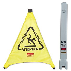 Rubbermaid® Commercial Multilingual Pop-Up Safety Cone