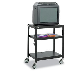 Safco® Adjustable-Height Steel AV Cart