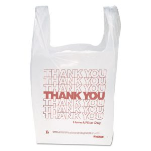 "Inteplast Group ""Thank You"" Handled T-Shirt Bag"