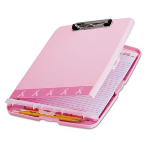 Officemate Breast Cancer Awareness Clipboard Box