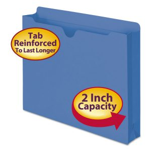 Smead® Colored File Jackets with Reinforced Double-Ply Tab