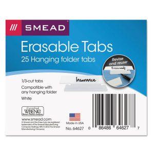 Smead® Erasable Hanging Folder Tabs
