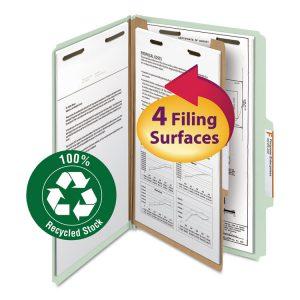Smead® 100% Recycled Pressboard Classification Folders