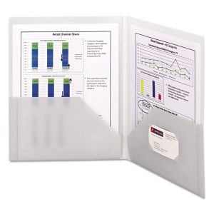 Smead® Frame View Poly Two-Pocket Folder