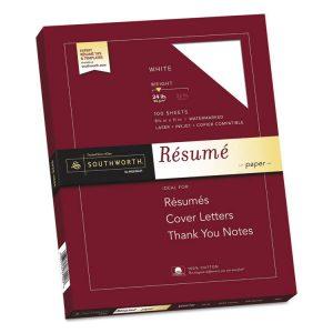 Southworth® 100% Cotton Resume Paper