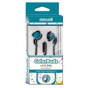 Maxell® Colorbuds with Microphone