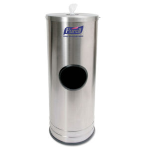 PURELL® Stainless Steel Dispenser Stand for Sanitizing Wipes