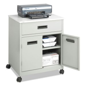 Safco® Steel Machine Stand with Pullout Drawer