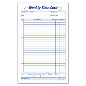 TOPS™ Weekly Employee Time Card