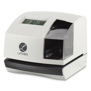 Lathem® Time 100E Time Clock & Stamp